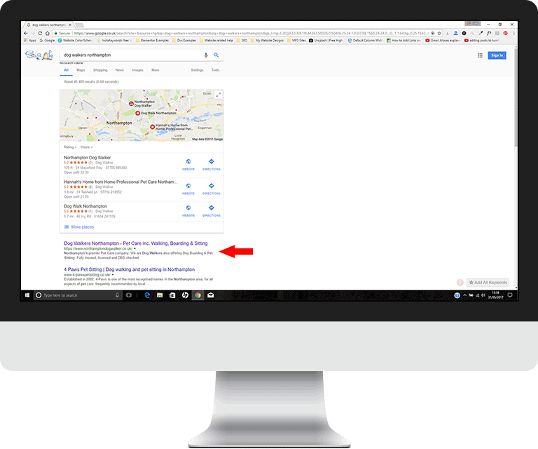 Page 1 Google for organic search