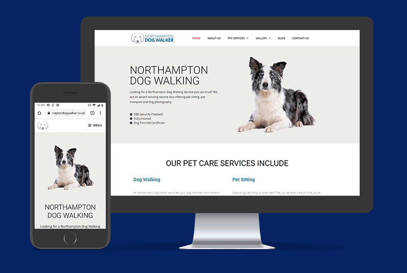 Northampton Dog Walker Website